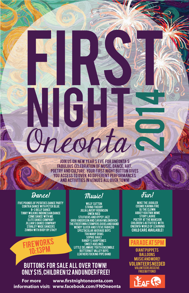 First Night Oneonta 2014